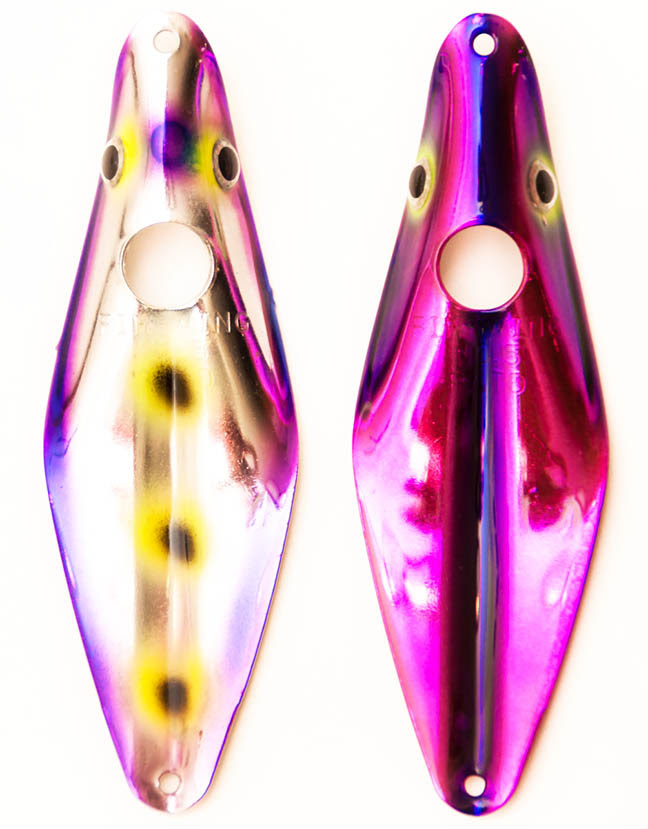 Purple Leopard (l), Purple Goblin (r)