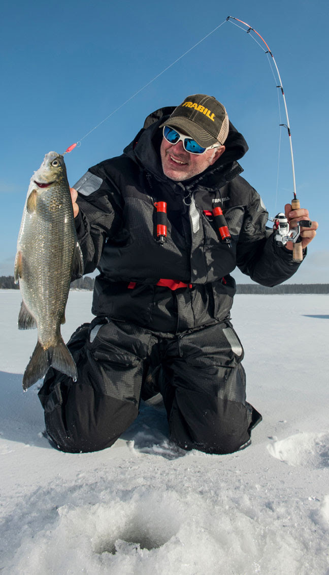 Frabill pro staffer and Fishing Hall of Famer Dale Stroschein lent his ice fishing insights to help design the Pro Series Stroschein 1350.